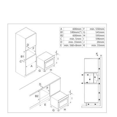 Inventum multifunctionele inbouw oven IOM6035RT